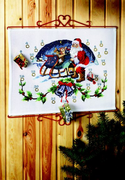 Christmas gift calendar - Santa Claus with sled