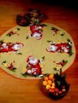 Permin 45-3255. Christmas tree skirts - Santa Claus animals.