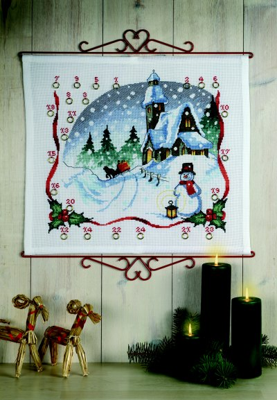 Christmas gift calendar - Church and bells