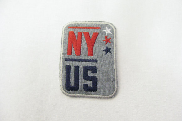 Grey NY-US patch 6x4cm