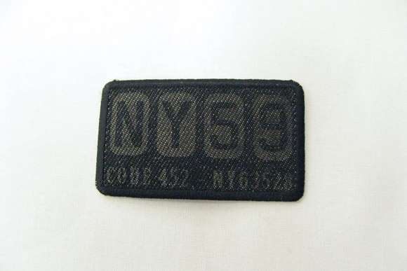 Black denim patch Ny59 4x7cm