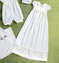 Infants Romper, Dress, Sash, Hat, Booties and Blanket