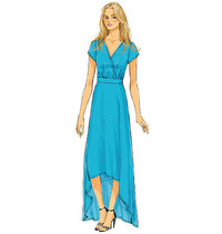 Butterick 6051. Long dress.