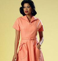 Dress and Belt. Butterick 6055.