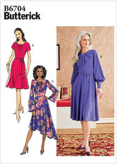 Dress and Sash. Butterick 6704.