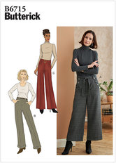 Petite Pants, Sash and Belt. Butterick 6715.