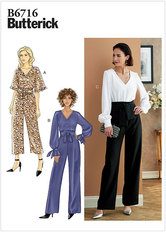 Jumpsuit and Sash. Butterick 6716.