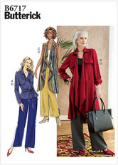 Jacket, Sash, Coat, Vest, and Pants. Butterick 6717.