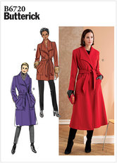Petite Outerwear and Belt. Butterick 6720.