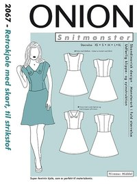 Retro dress with skirt. Onion 2067.