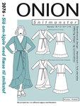 Onion 2076. Wrap dress with waist tie.