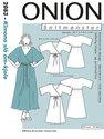 Kimono wrap-around dress