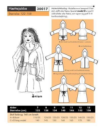 Hooded jacket or coat