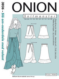 Wrap skirt with volant. Onion 3036.