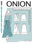 Onion 3036. Wrap skirt with volant.