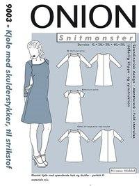 Dress with shoulderpieces, plus size. Onion 9003.
