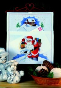 Mail pocket - Santa Claus with mail. Permin 22-6215.