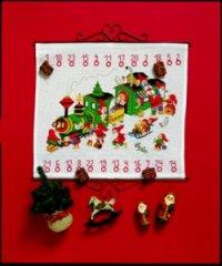 Christmas gift calendar - train. Permin 34-8225.