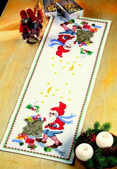 Table decoration - Santa Claus helper with bag