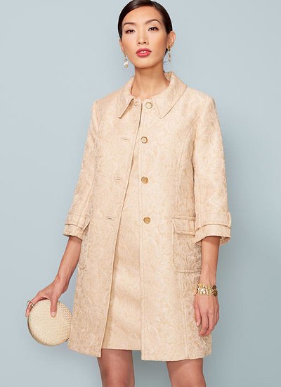 Princess Seam Jacket and V-Back Dress with Straps, Kay Unger