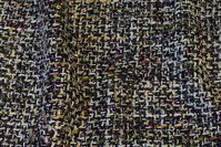 Beautiful ruggedly woven fabric in chanel-style