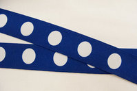 Blue elastic with dots