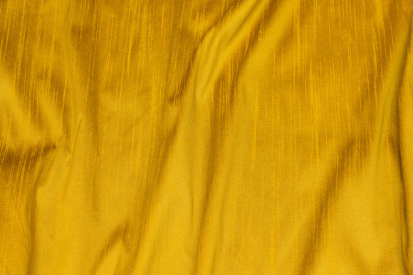 Brass-yellow, faux thai silk in polyester