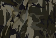 Camouflage cotton-jersey in dusty-green nuances