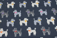 Charcoal cotton-jersey with ca. 6 cm big dogs