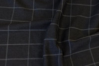 Charcoal, light strækflannel with light grey line-checks