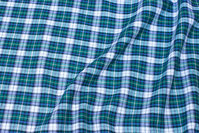 Checked cotton-flanel in navy, green, white