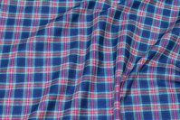 Checked cotton-flanel in navy, red, green