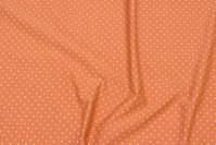 Cinnamon-colored cotton-jersey with small yellow dot