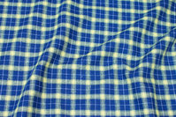 Cotton-flanel in ca. 3 cm checks in navy and yellow