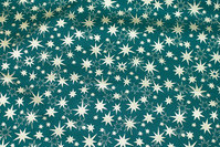 Dark green christmas-cotton with ca. 1-2 cm gold stars