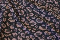 Dark grey heavyjersey with dusty old rose pattern