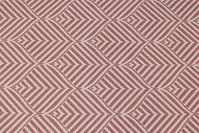 Elegant jacquard-woven table-cloth-fabric in bordeaux and light with ca. 10 cm leaf-pattern