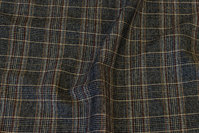 Fashion checks in dark navy with brown line-checks