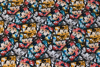 Fun mickey mouse cotton-jersey with ca. 5 cm squares
