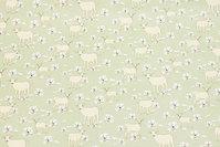 Light green, Gots organic, firm cotton with sheep
