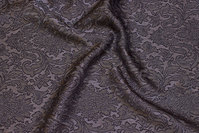 Light, jacquard-woven polyester in charcoal