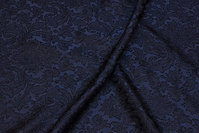 Light, jacquard-woven polyester in navy