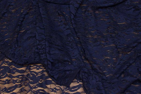 Navy, light stretch lace