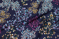 Navy viscose twill for blouses, dresses etc.