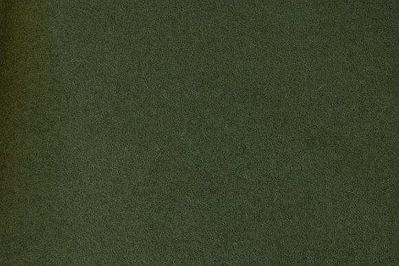 Olive-green wool bouclé