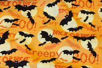 Orange Halloween poplin with bats