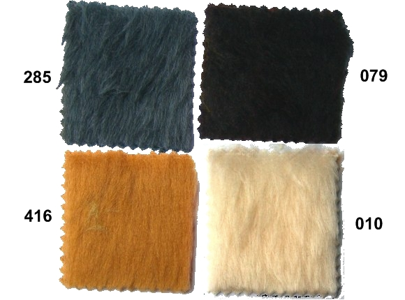 Pile faux fur in brown, grey, white