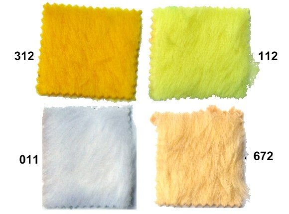 Pile faux fur in yellow and white