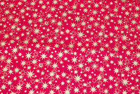 Red christmas-cotton with ca. 1-2 cm gold stars