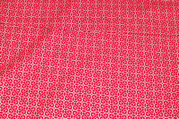Red christmas-cotton with small gold-pattern